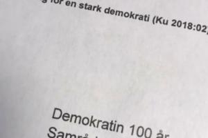 Demokratin 100 år